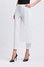 Брюки BCBGMAXAZRIA Mixed-Media Overlay Pant