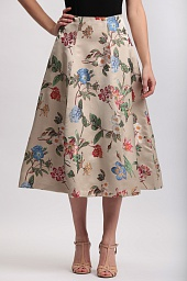 Юбка Alice + Olivia Fila Floral-Embroidered Midi Skirt