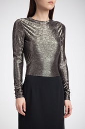 Топ Alice + Olivia Delaina Metallic Crop Top
