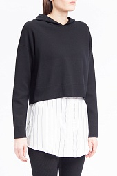 Худи Alice + Olivia Dorma Layered-Look Hooded Sweatshirt