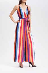 Платье Willow & Root Striped Surplice Maxi Dress