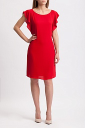 Платье Michael Kors Flounce Sleeve Tie Waist Dress