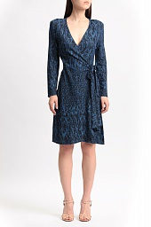 Платье BCBGMAXAZRIA Adele Houndstooth Wrap Dress