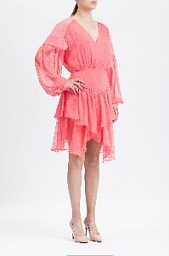 Платье BCBGMAXAZRIA Ruffled Faux Wrap Handkerchief Dress