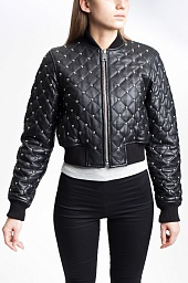 Куртка-бомбер Michael Kors Studded quilted-Leather Bomber Jacket