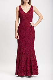 Платье Ralph Lauren Maroon Floral Sleeveless Mermaid Dress