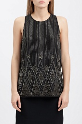Топ Ralph Lauren Crepe Beaded Tank Top
