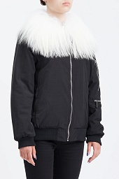 Куртка Michael Kors Goat Hair Collar Bomber Jacket
