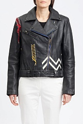 Куртка кожаная Bagatelle Picasso Textured Biker Jacket