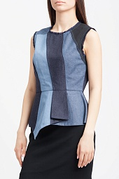 Топ BCBGMAXAZRIA Mae Color-Blocked Peplum Top
