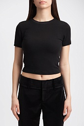 Топ Alice + Olivia Jazmine Crewneck Crop Top