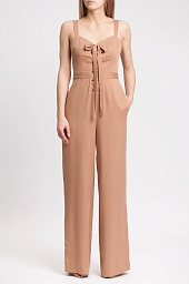 Комбинезон BCBGMAXAZRIA Becka Lace-Up Front Jumpsuit
