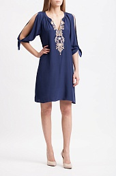 Туника Lilly Pulitzer Bryce Embroidered Silk Tunic Dress