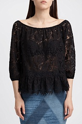 Топ BCBGMAXAZRIA Britanee Lace Off-The-Shoulder Top
