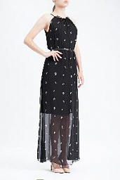 Платье Karl Lagerfeld Lightning Bolt Print Maxi Dress