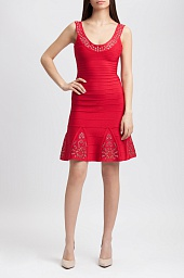Платье Herve Leger Blakely Multi-Eyelet Dress
