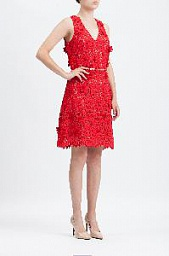 Платье Michael Kors Floral Applique Lace Dress
