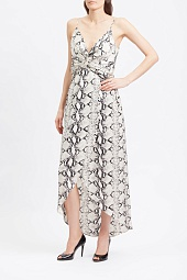 Платье Willow & Root Snakeskin Tulip Front Maxi Dress