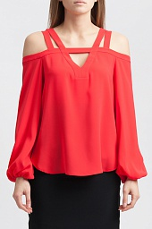 Топ BCBGMAXAZRIA Tina Cold-Shoulder Top