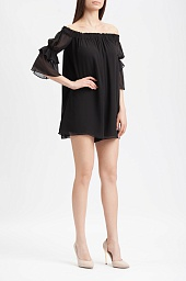 Ромпер BCBGMAXAZRIA Off-The-Shoulder Shirred Romper