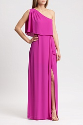 Платье BCBGMAXAZRIA Secha One-Shoulder Draped Gown