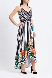 Платье Flying Tomato Striped Floral High Low Dress