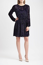 Платье Michael Kors Velvet Burnout Tiger Stripe Dress