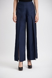 Брюки BCBGMAXAZRIA Michael Wide Leg Slit Pants