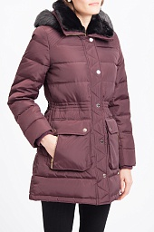 Пальто утепленное Michael Kors Faux Fur Hood Down Puffer Coat
