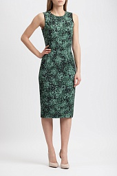 Платье Michael Kors Sleeveless Jewel-Neck Sheath Dress