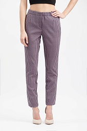 Брюки Prada Virgin Wool Plaid Cropped Trousers