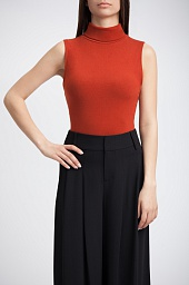 Топ Alice + Olivia Farley Sleeveless Turtleneck Top