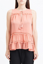 Блузка Alice + Olivia Massie Tie-Neck Tiered Ruffle Blouse
