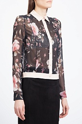 Блузка Alice + Olivia Rose Print Shirt