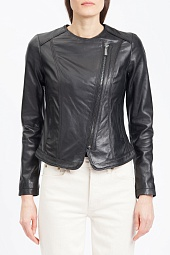 Куртка кожаная Michael Kors Black Moto Leather Jacket