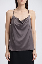 Майка Alice + Olivia Dasha Cowl Neck Racerback Silk Blend Tank