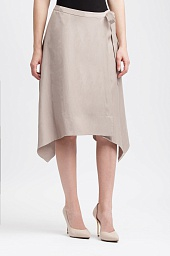 Юбка BCBGMAXAZRIA Claire Sueded Faux-Wrap Skirt