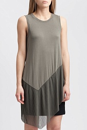 Топ BCBGMAXAZRIA Annabelle Asymmetrical Mixed-Media Top