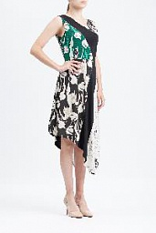 Платье BCBGMAXAZRIA Meera Tulip Print-Blocked Asymmetrical Dress