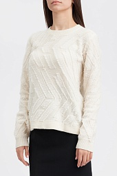 Свитер женский Tory Burch Weston Embroidered Fringe Wool Sweater