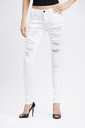 Джинсы Alice + Olivia Jane Distressed Skinny Jeans