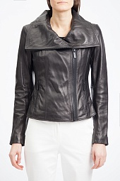 Куртка кожаная Michael Kors Leather Moto Jacket