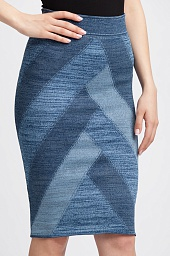 Юбка BCBGMAXAZRIA Leger Patchwork Pencil Skirt