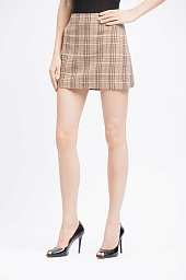 Юбка Alice + Olivia Elana Cheсked Mini Skirt