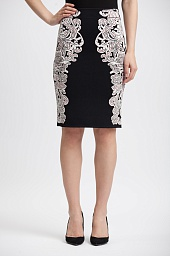 Юбка BCBGMAXAZRIA Natalee Floral Jacquard Pencil Skirt