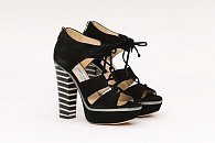 Босоножки Jimmy Choo Hammer Lace-Up Suede Platform Sandals