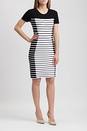 Платье Michael Kors Stripe Knit Sheath Dress