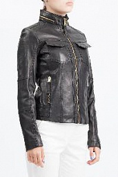 Куртка Michael Kors Front Zip Leather Jacket