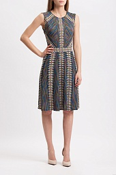 Платье BCBGMAXAZRIA Rosalya Neon Triangles-Print Dress