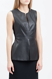Топ BCBGMAXAZRIA Joslynn Faux Leather Top